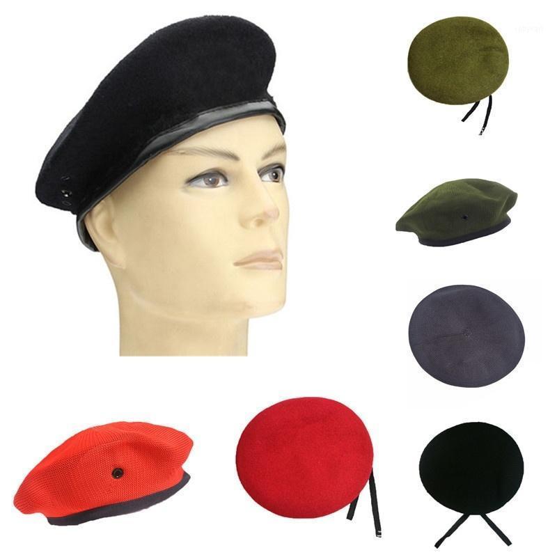Unisex Fashion Vintage Solid Woolen Ploth Berets Berretti da uomo Cappelli Army Cappello da uomo Donne Uniforme Cap Picky Blinder Cappelli per le donne1
