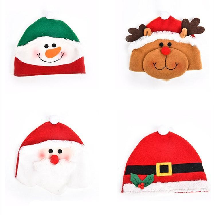 hot Christmas decorations dress gifts santa cap cute cartoon santa claus Snowman elk children christmas hat T2I51612