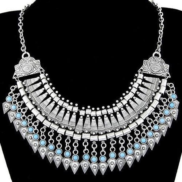Collares de collares de múltiples capas Boho étnico vintage declaración gargantilla maxi collares Collier para mujeres