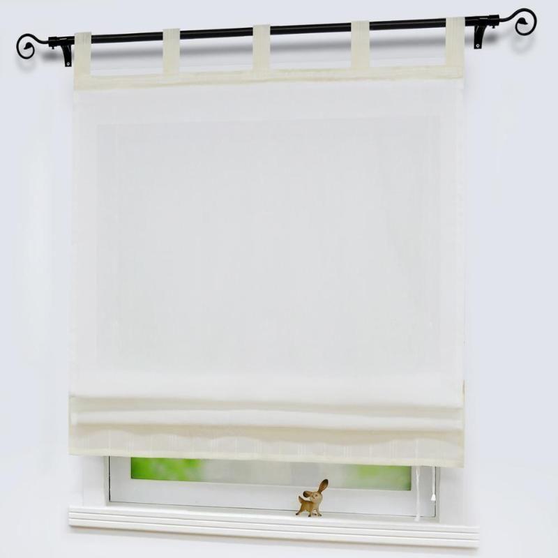 Roman Tulle Curtain Window Valance Panel Drape Tab Tape for the Kitchen Cabinet