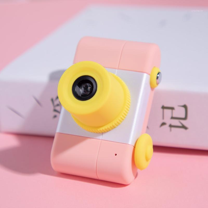 Câmeras digitais d3 mini câmera 1,5 polegadas IPS HD tela frente 1200w lente po video gravação de vídeo crianças cute presente regular triplo tiro1