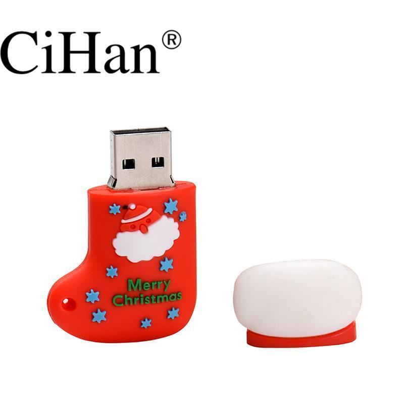 USB Flash Pen Drive Cartoon Snowman Christmas Tree Gifts 4GB 8GB 16GB 32GB Pendrive Storages Free DHL