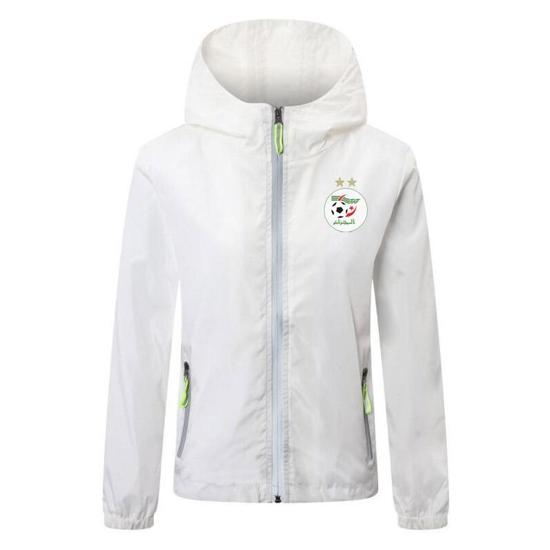 2020 2021 algeria squadra nazionale di rivestimento di calcio con cerniera a vento degli uomini di calcio maglie con cappuccio da calcio Lichtgevende giacca cappotto corsa Giacche