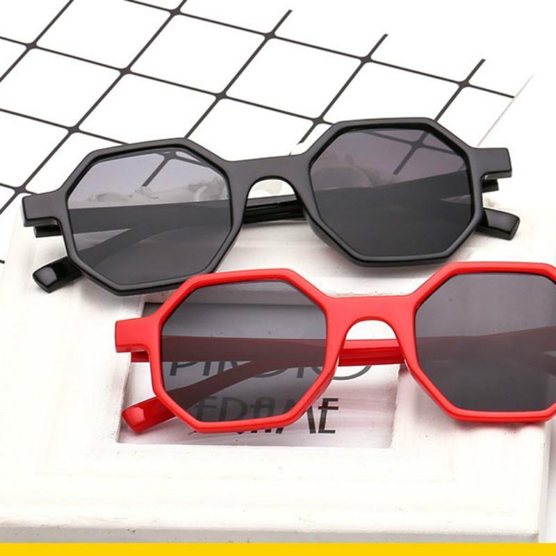 2020 nuevos hombres mujeres gafas UV400 Gafas de sol Marca Personalidad irregular Gafas de sol Diseñador Polygon Vintage Sunglasses JNNJS