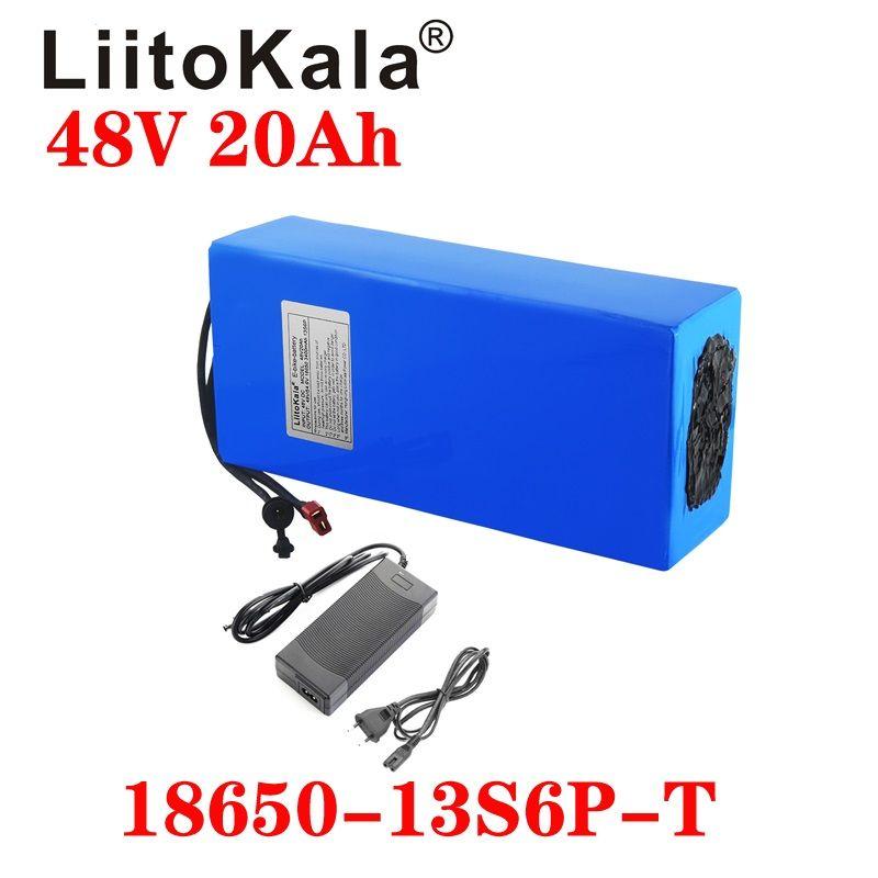 LiitoKala 48V 20AH alta potenza 1800W bici elettrica della batteria 48V 20AH E-bici della batteria 48 volt batteria al litio con BMS 2A carica
