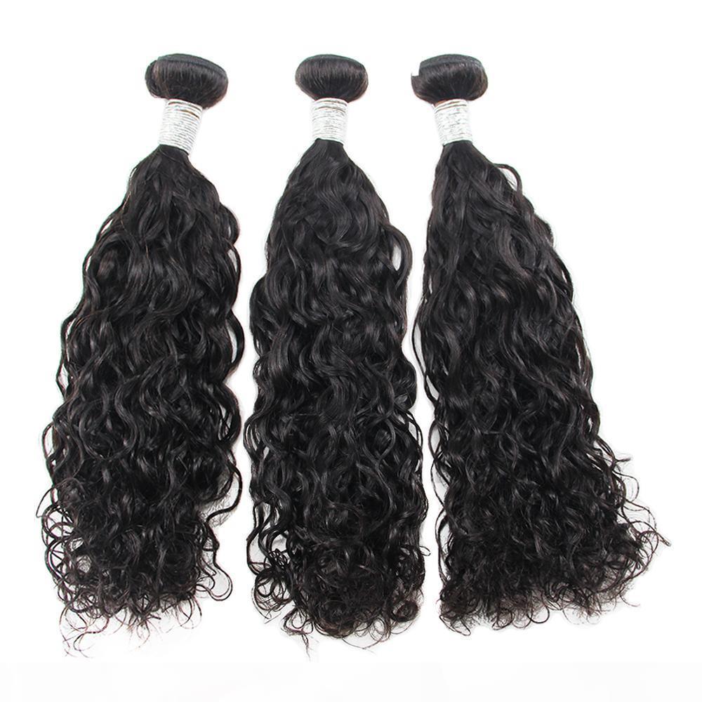 Nami Hair Brasileño Virgen Weaves Weave Wave 3 Paquetes 100% Extensiones de cabello humano Color natural