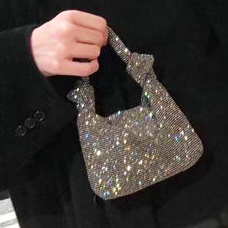 HBP женские клатчи Bling Design Hand Totes вечерняя муфта мода мода мода рук женщины винтажного мягкого димонда ручной кошелек роскошь Bolsa