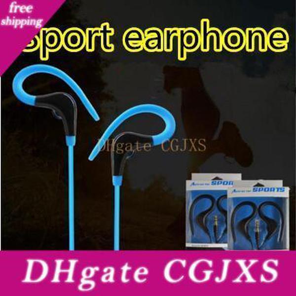 Kulaklık Bass Müzik Kulaklık Stereo Kulaklık Kulaklık ile Mic Running Kulak Kanca Spor Cep Telefonu Mp3 3 .5mm Kulaklık