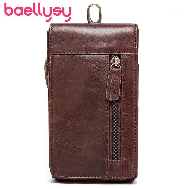 2019 Waist Fashion Bag Men's Leather Shoulder Pack Genuine Men Waist Leisure Small Bum Bag1 Bags Belt Bags Fanny Pack Gugrh