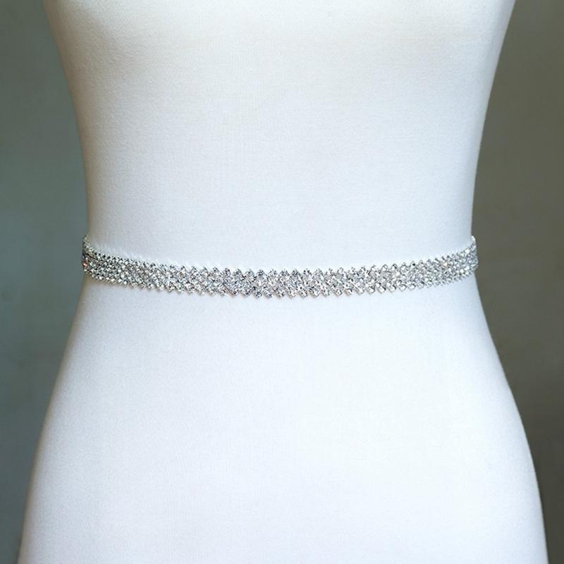 Изящный ремень горный хрусталь, кристалл свадебный пояс, свадьба, свадебный пояс, свадьба Sash Y200730