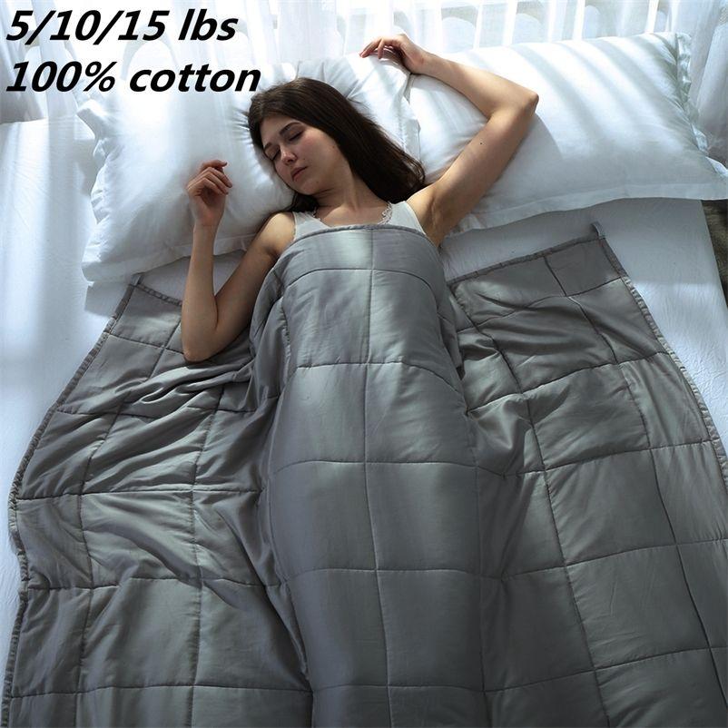 Gewichtet für Erwachsene Decken Dekompression Schlafhilfedruck Sleeping Heavy Wurf Blanket Bett 201222