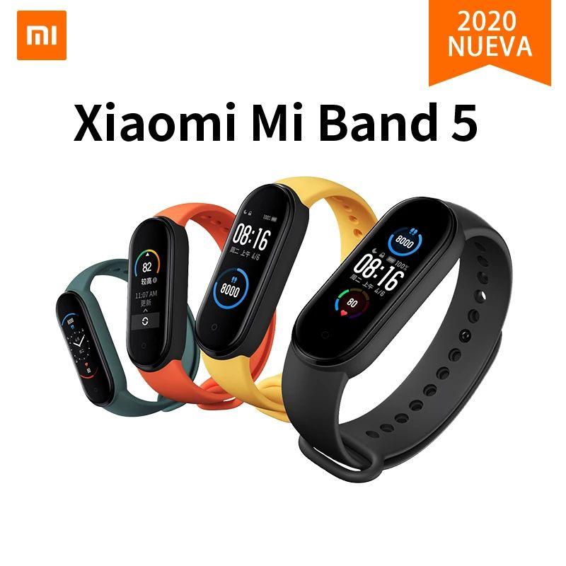 Original Mi Banda 5 inteligente Pulseira Xiaomi aptidão rastreador relógio Heart Rate Monitor sono 0,95 polegadas OLED Band4 Bluetooth