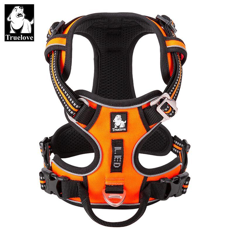 Truelove vorne Nylon Hundegeschirr Nein Anzugsweste Weiche Einstellbare Reflective Sicherheitsgurt für Hunde Klein Groß Lauftraining 1020