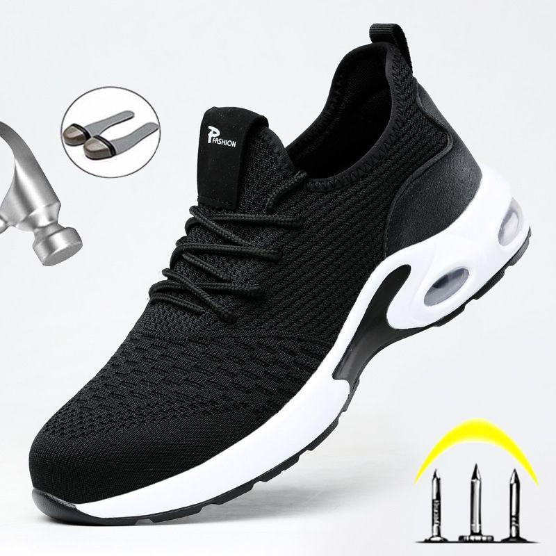 Atmungsaktive Männer Sicherheitsstiefel-Stahl-Zeh-Anti-Punktion-Arbeits-Turnschuhe unzerstörbare Ryder-Schuhe 201019