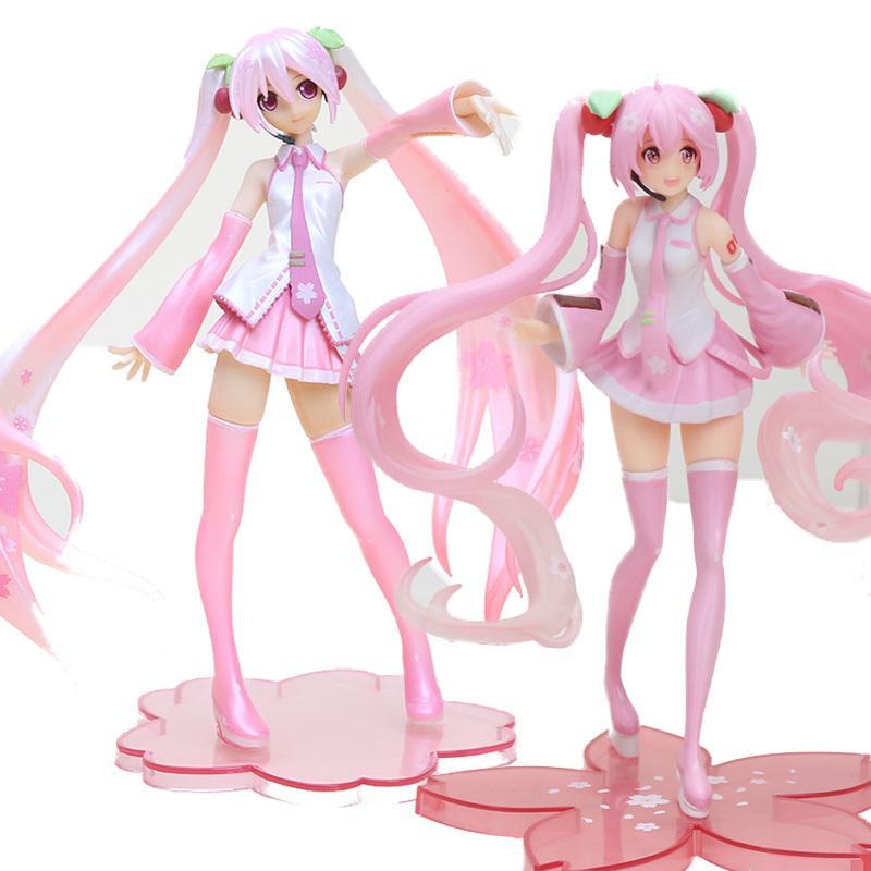 Anime Rosa Vocaloid Hatsune Miku Sakura Figuras de Ação Coleção Modelo Brinquedos Spelgoed Meninas PVC Firurine 1008