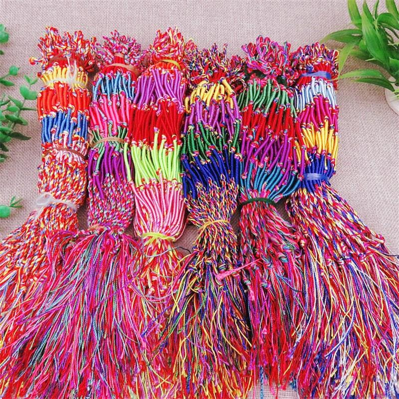 خمسة اللون موضوع سوار النساء الرجال النسيج أساور الملونة الحبل مضفر مجوهرات سلسلة هدية صغيرة 0 17hs g2b
