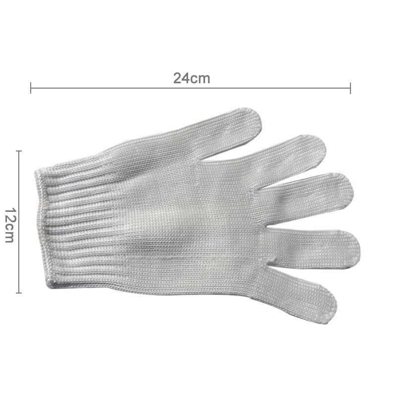 Устойчивый к устойчивости 1 вария черная защитная трудовая безопасность из нержавеющей стали проволоки мясника против режущих перчаток