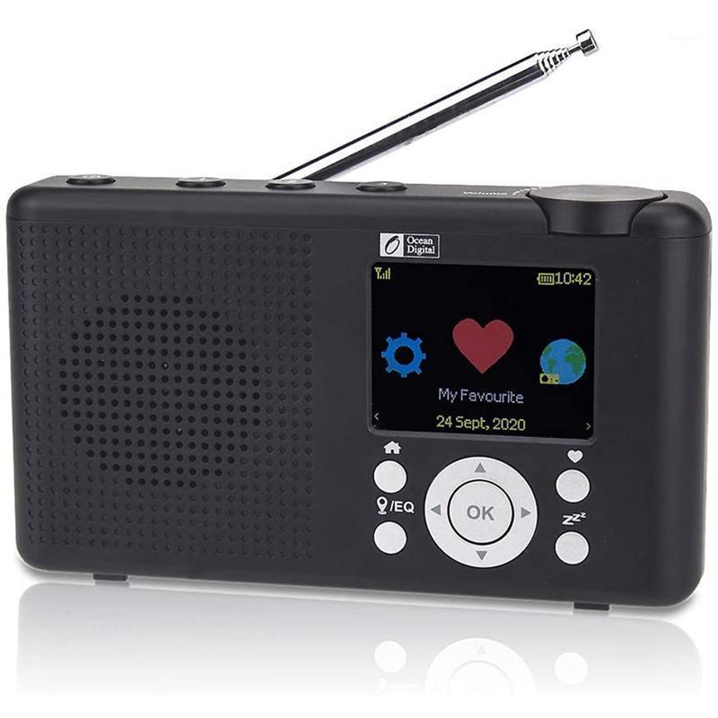 Batterie rechargeable à écran LCD de 2,4 pouces Couleur de 2,4 pouces Wi-Fi Bluetooth UPNP Player DLNA Réveil1