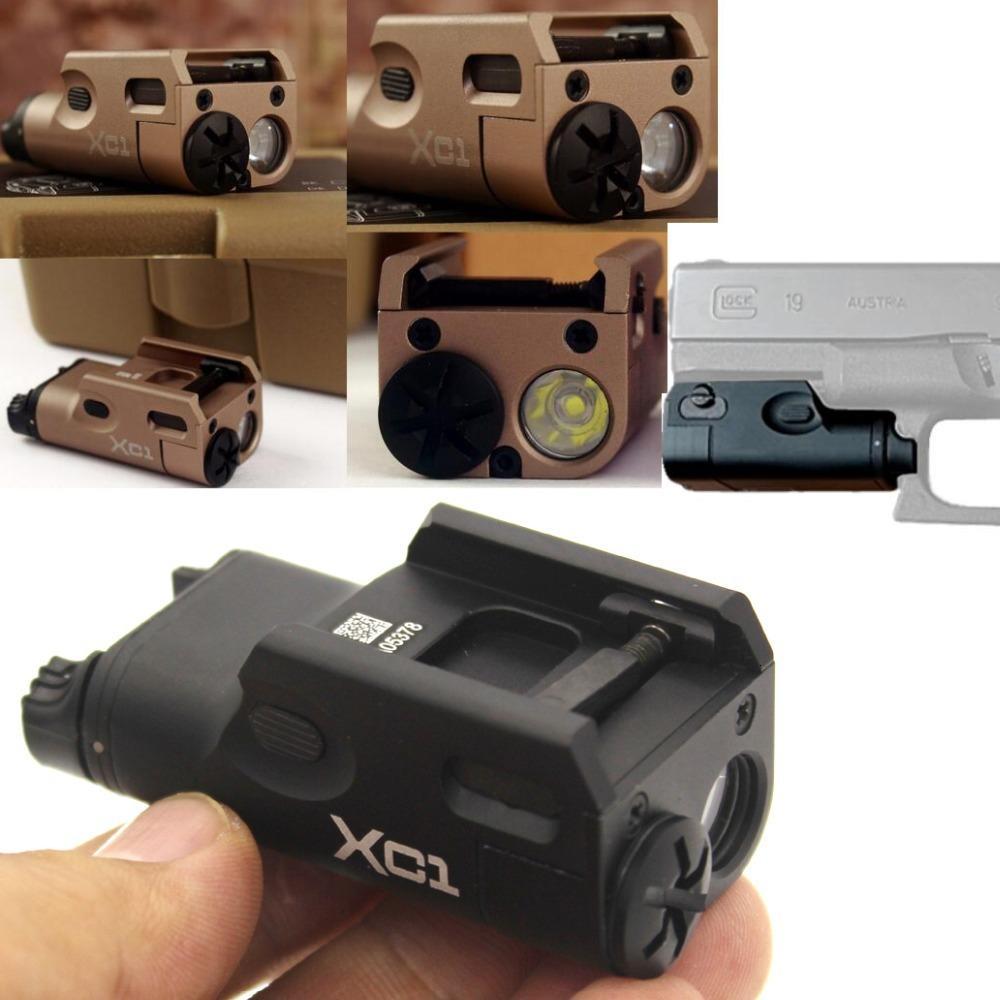 Weapon Tactical Light Airsoft Militar Hunting Flashlight For GLOC SF XC1 Pistol MINI Light Gu LED 20mm Rail