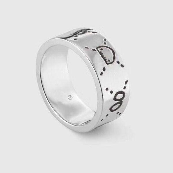 Beliebte Mode 925 Sterling Silber Schädel Rings Anelli Bague für Herren und Frauen Partei Hochzeit Schmuck mit Box.