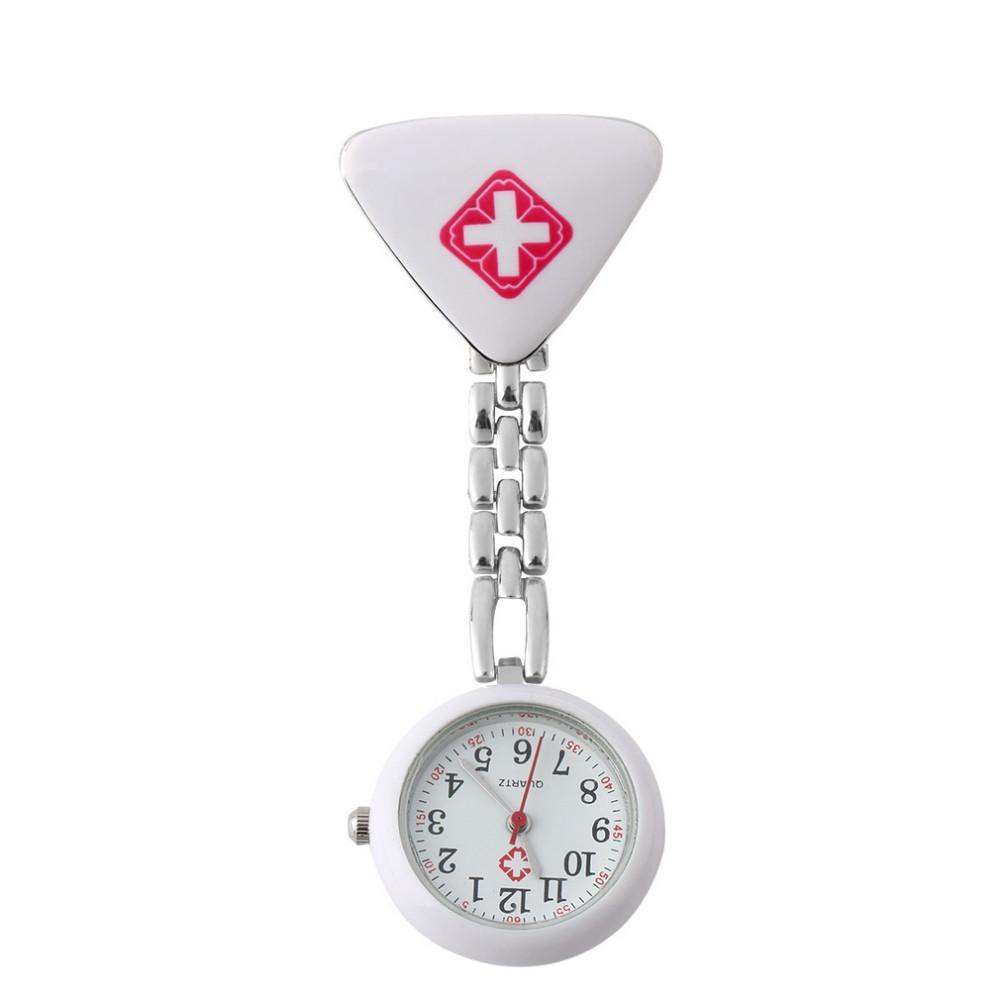 Aplustrade atacado clipe enfermeira médico pingente de bolso quartzo vermelho cruz broche enfermeiras assistir fob pendurado médico