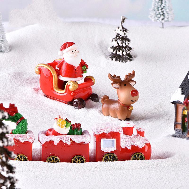 1 шт. Рождественское миниатюра Санта-Клаус олень северный олень фея садовый декор снежный пейзаж модель поезда террариум фигурки