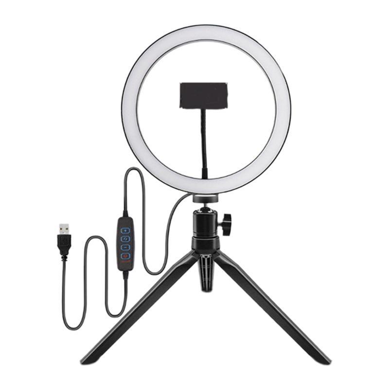 HFES 10 pulgadas plana 0,2 M del teléfono móvil en vivo luz de relleno, la cámara Cámara regulable LED Luz del anillo Luz del anillo para el Real-Time Fill