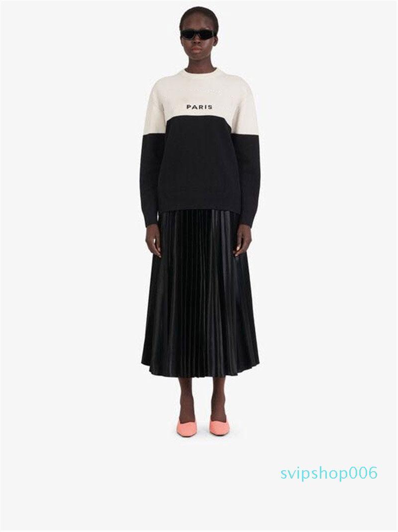 Suéter para mujer 20 otoño nueva llegada moda femenina camiseta larga del elemento de la calle de la calle de la calle de la ropa de las mujeres Seleccione