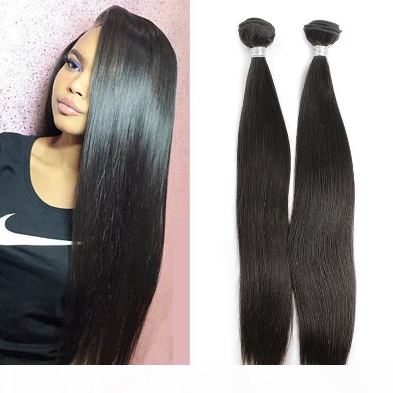 En Çok Satan Saç% 100 9A Brezilyalı Remy Virgin İnsan Saç Atkı İpeksi Düz Doğal Renk Ücretsiz Kargo Julienchina Bella Hair demetleri