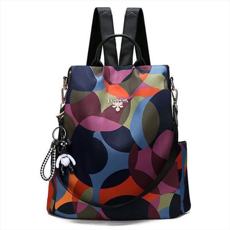 2020 nuova delle donne Zaini vintage di marca della Corea del sacchetto di disegno di viaggio Anti Theft Zaino in nylon di alta qualità piccolo zaino ZZL188