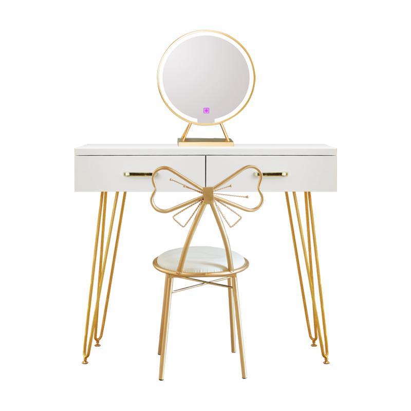 Nordische Kommode für Schlafzimmer Wohnzimmermöbel Massivholz Einfache Moderne Minimalistische Kommoden Ins-Stil-Schminktisch mit Lampe