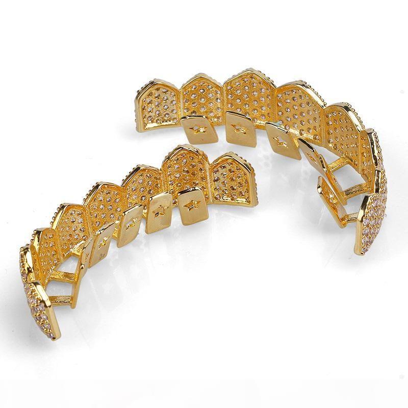 Hip Hop Schmuck Herren Diamant Grillz Zähne Pandora Style Charms Gold Luxus Designer Eure Grills Mode Rapper Männer Mode Zubehör