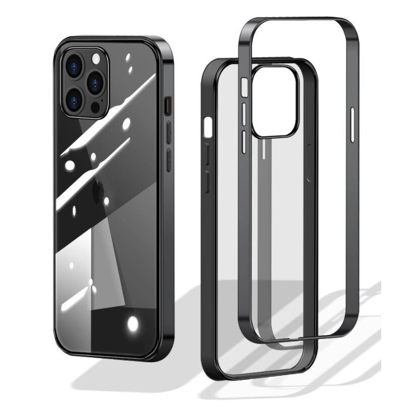 PC 금속 범퍼 + TPU 케이스 아이폰에 대한 12 프로 미니 아이폰 (12) 프로 맥스 케이스 안티 - 가을 알루미늄 전화 케이스
