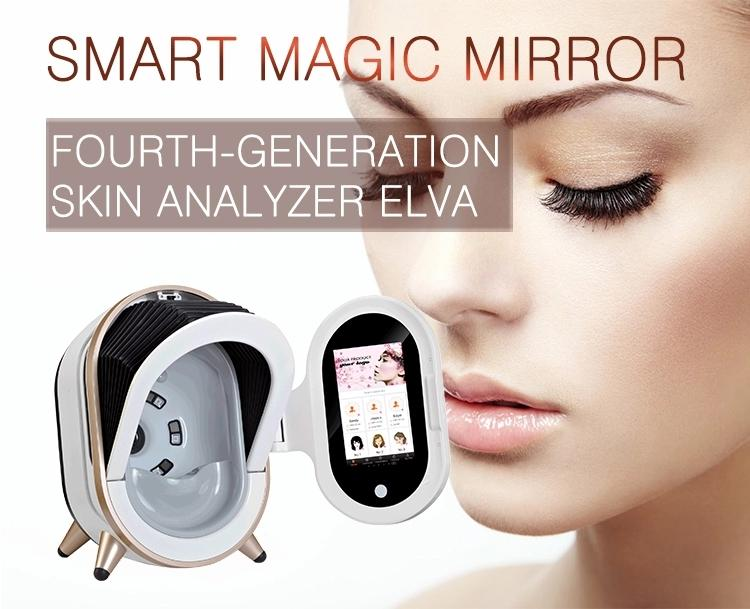 2020 Nuevo portátil de la piel espejo mágico Analizador de la piel de la cara Análisis de la máquina equipo de la belleza