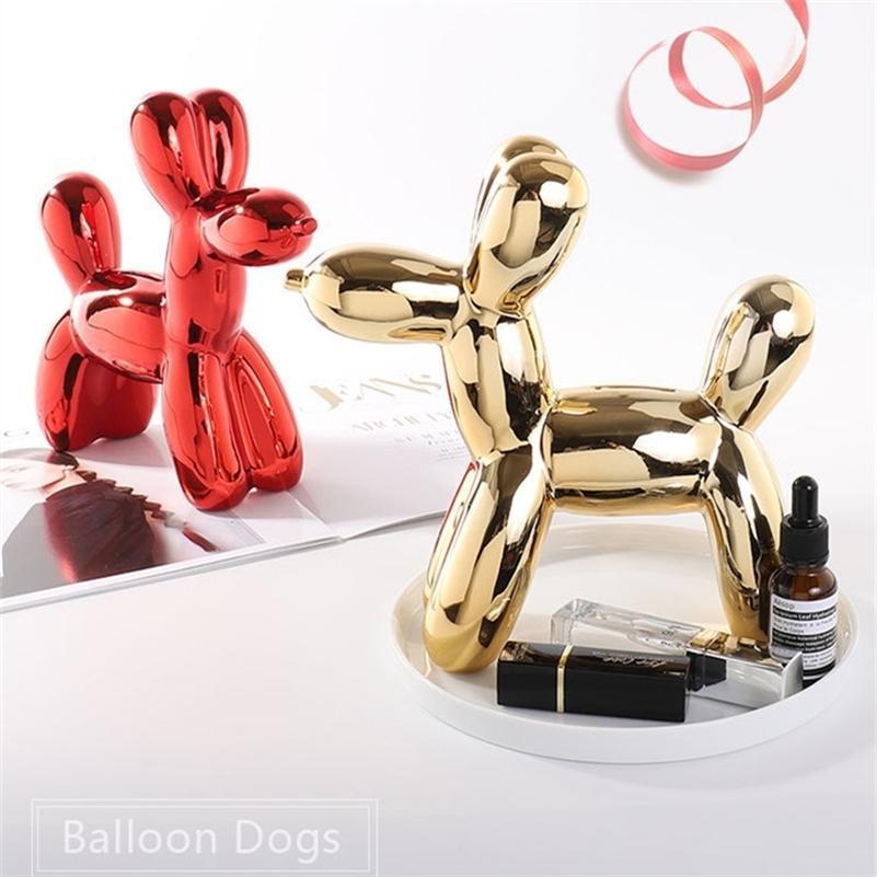 Ballon de céramique moderne chien coffret mignon enfants cadeau maison décoration caisse caisse sauvegarde boîte créatif maison argent boîte ballon chien lj201212