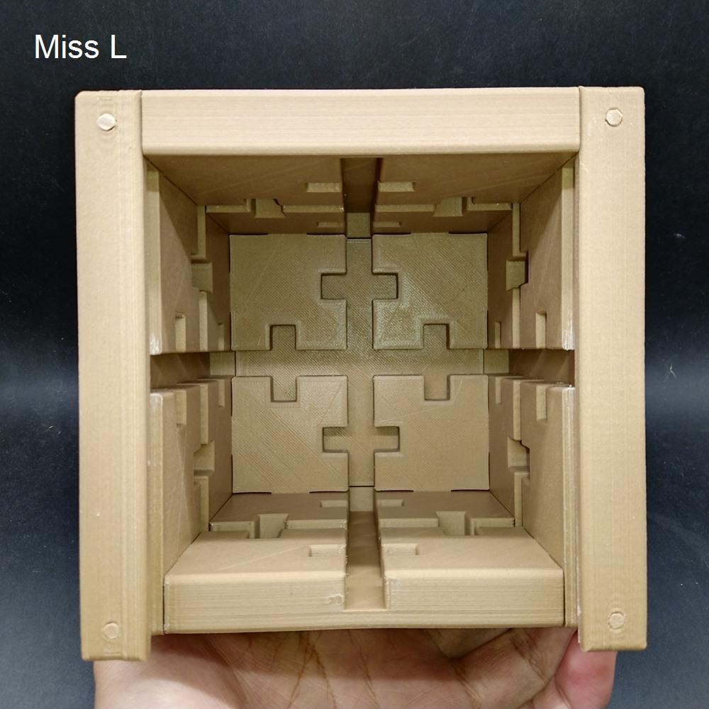 DIY حل الدورية لعبة 13 * 13 * 13 سم سري لغز مربع العقل العقل لعبة كيد هدية لعبة الدماغ دعابة نموذج PLA المواد