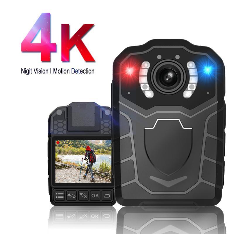 4K 2160P 2K 1296P 34MP 1080P Coche Mini cámara DVR Grabadora de voz DV Seguridad Clip Cuerpo Detección de movimiento
