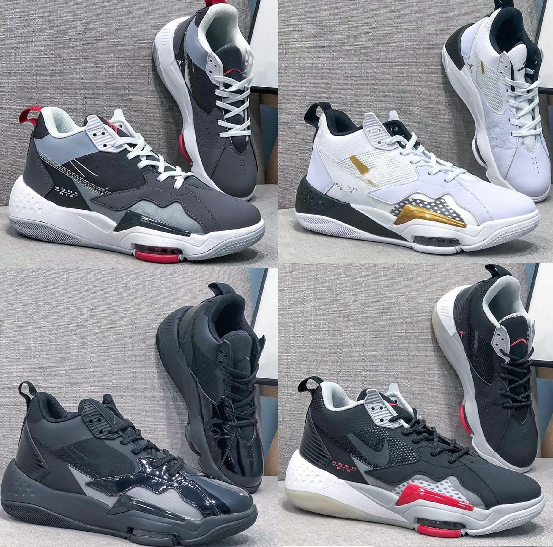40-46 Hombre de la más alta calidad Jumpman Courtside 2Leather Designer Sneakers Hombres Mujeres Chaussures Deportes Correr Zapatillas de baloncesto Plataforma Renegade