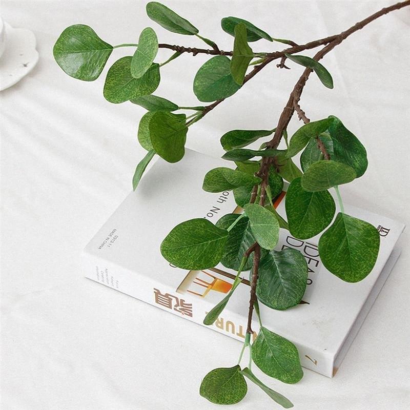 Edebi Stil Yapay Yaprak Simülasyon Bitki Para Yaprak Okaliptüs Sahte Çiçek Sahte Yapraklar Yeşil Bitki Dekorasyon XtSP # Malzemeleri