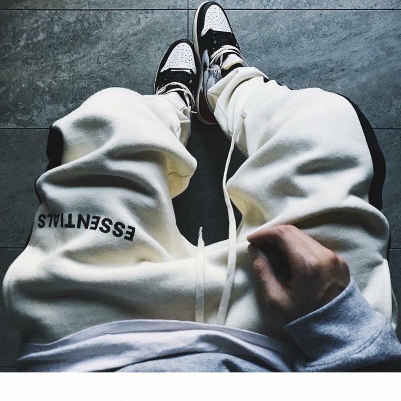 Sis Essentials Sweatpants Tanrı'nın Korkusu Yan Bağlama Ter Pantolon Erkekler Kadınlar Rahat Uzun Jogging Pantolon Pantolon Hip Hop Kaykay Streetwear