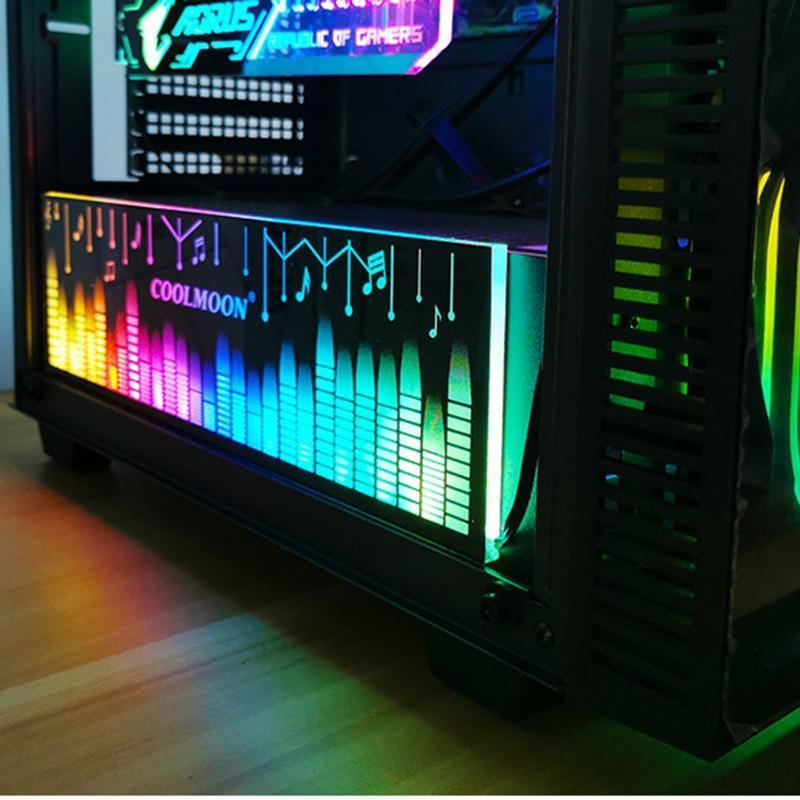COOLMOON Poder Luz Armazém Conselho RGB Color Changing LED Faixa Use para isto Suporte Brace DIY Computer Game Chassis
