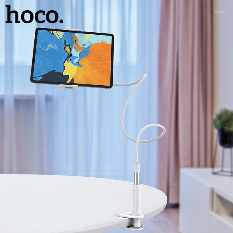 Titular do telefone celular suportes hoco suporte braço preguiçoso móvel goosneck stand braçadeira cama tablet carro selfie suporte de montagem para i x 11 pro max1