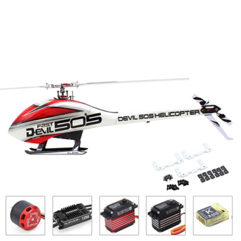 ALZRC - Devil 505 3D elicottero VELOCE FBL Super Combo - 120A V4 ESC 1200KV motore MINI K-BAR V2 3-Axle Gyro sistema