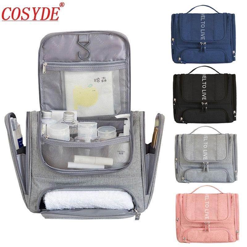 Hommes Grand sac de maquillage Organiseur Portable Travel Cosmetic Sac pour maquillage Suspendre Pochette Beauté de toilette Kit Femme Sac de toilette Y200714
