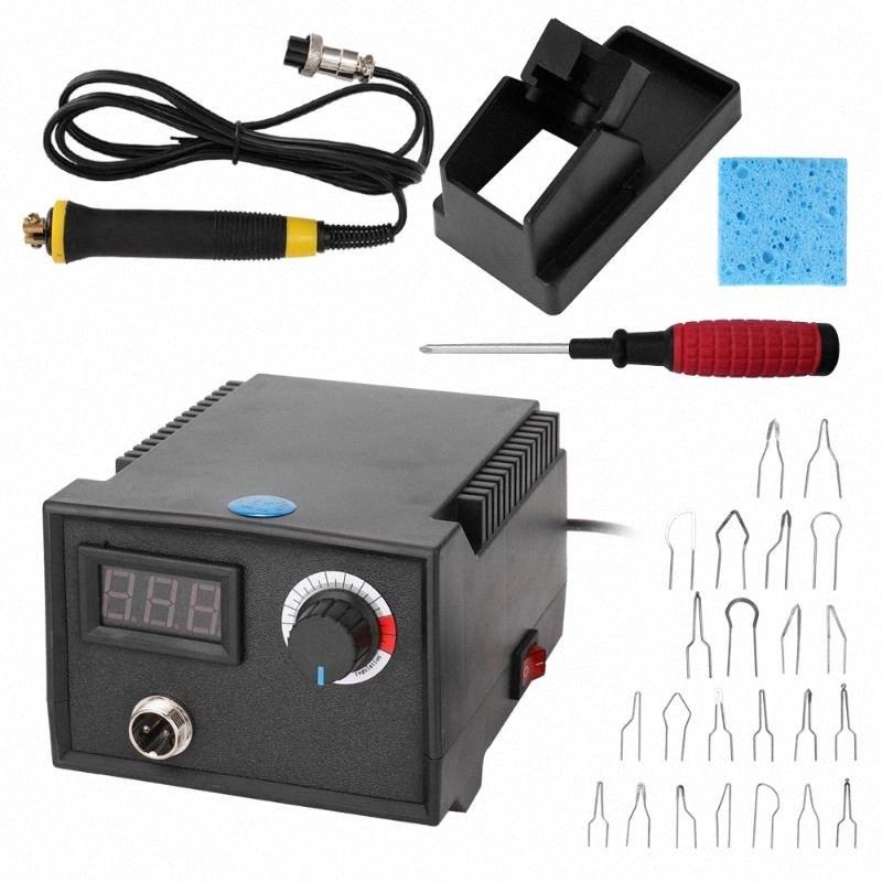 Pirografia macchina legna Pirograbador regolabile Temperatura stufa a legna Cautery pirografia penna zucca Crafts Tool Set 0HXE #