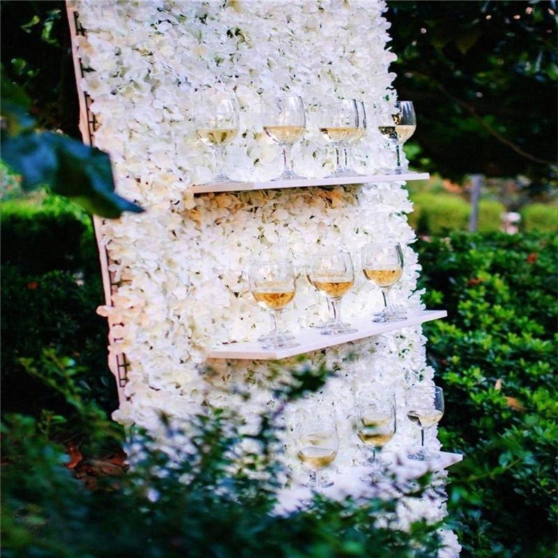 Искусственного шелка гортензия цветок стены Свадебные украшения заставок панели Home Decor Поддельный цветок dn0t #