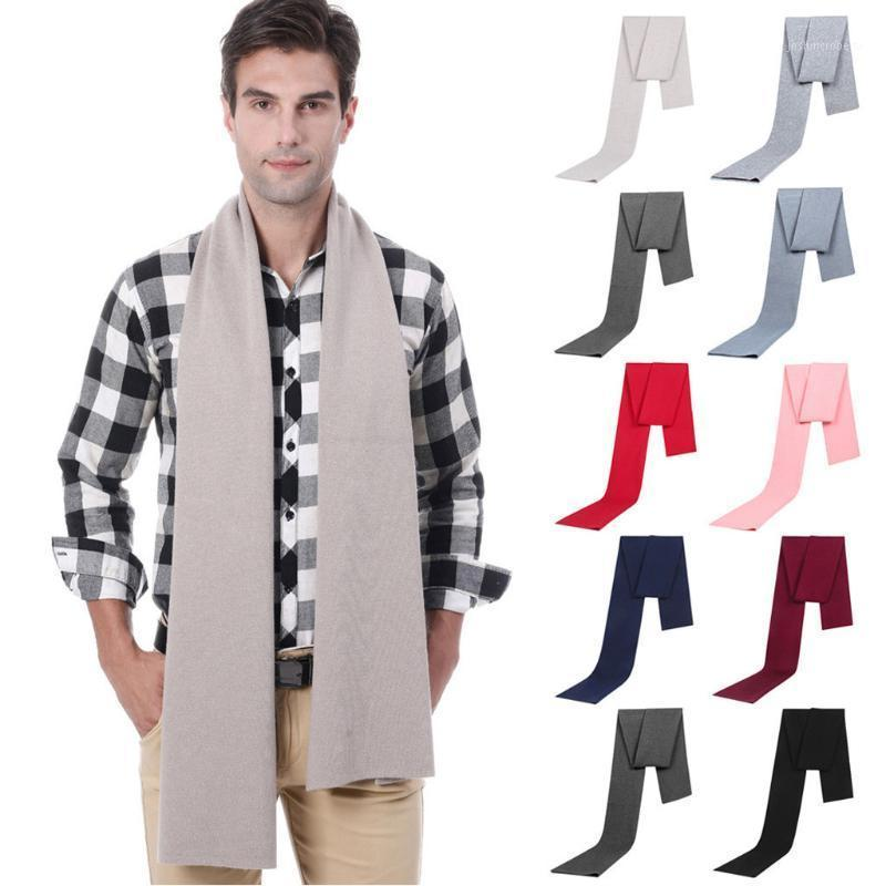 Scarves 2021 Luxurywomen Cashmere Scarf Men's Autumn Winter Jacquards Knit Middle-aged Gift Boy Father Fish Ski Gift1