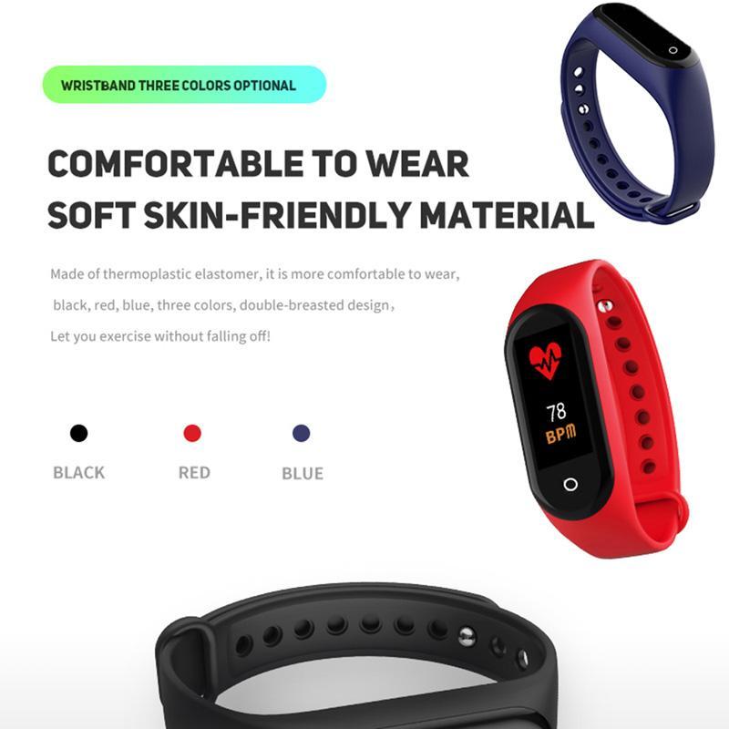 M4 Smart Band Fitness Tracker Sport Bracelet Récompense cardiaque Smart Watch 0.96inch Smartband Monitor Santé Bracelet Santé Vente en gros