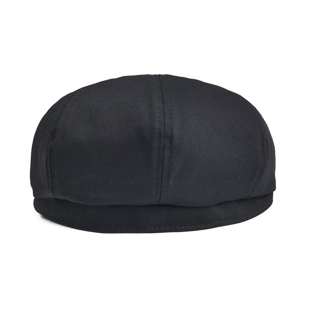 Botvela Newsboy-Kappe Herren Twill Baumwolle Acht Panel Hut Frauen Bäcker Boy Caps Retro Große große Hüte Männliche Boina Black Brain 003 201204