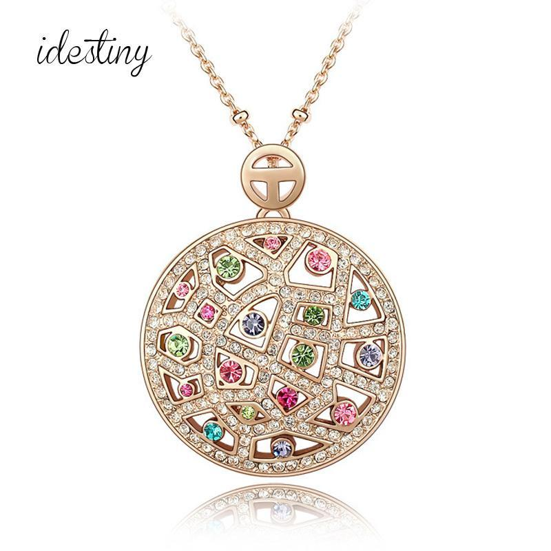 11.11 Sale Fashion Jewelry Womens Accessories Necklace Made with Austrian Crystal New Big Round Design Jewelery Wholesale Gift
